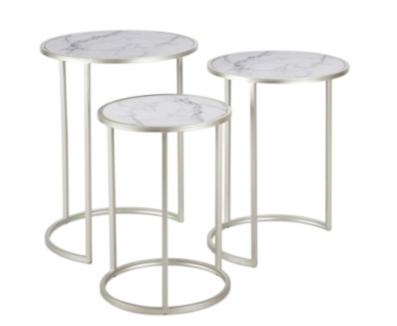 Marble Look Side Tables