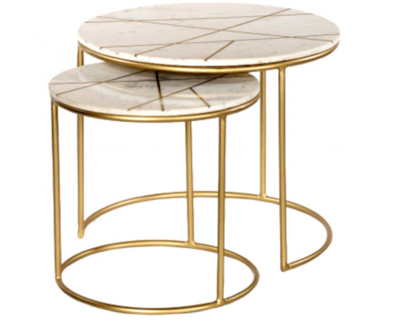 Marble & Gold Side Tables