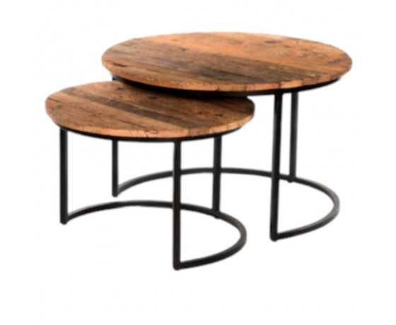 Reclaimed Wood and Metal Tables