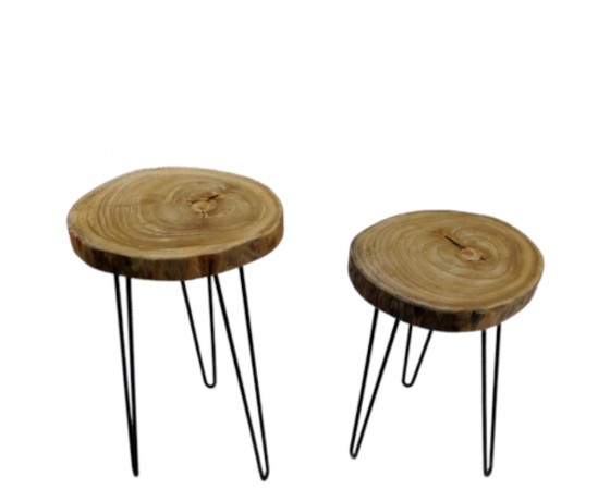Craft Wooden Side Tables