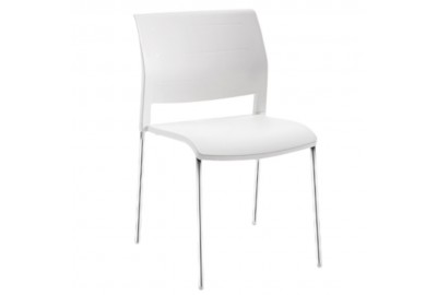 Connect Chair 4 leg polyprop white