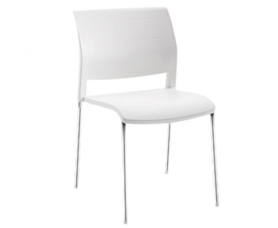 Connect Chair 4 leg polyprop white