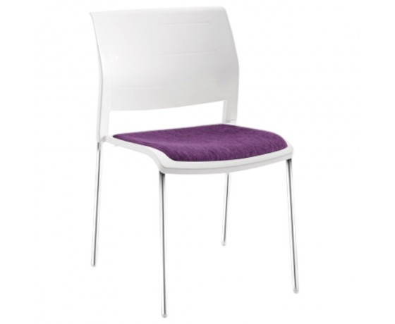 Connect Chair 4 leg uph white