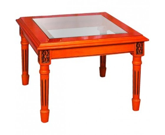 Glass Top Lamp Side Table