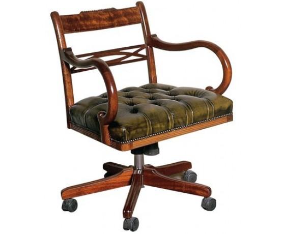 English Regency Swivel Chair