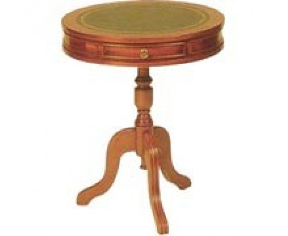 Leather Drum Table