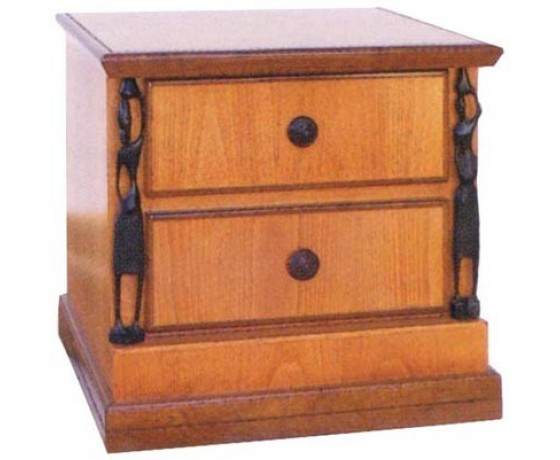 African 2 drawers Pedestal