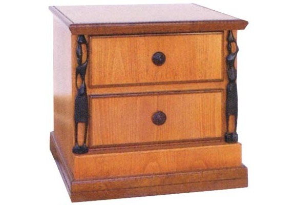 African 2 drawers Pedestal