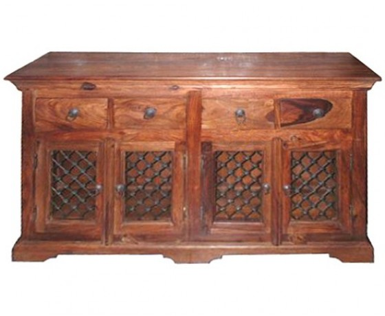 Wooden Iron Cabinet