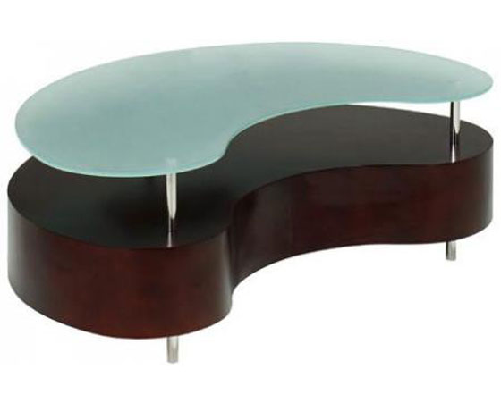 Coffee table in the shape of a broad bean